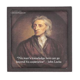 Conocimiento de John Locke/cita de la experiencia Cajas De Recuerdo De Calidad
