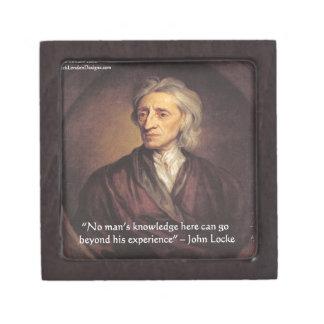 Conocimiento de John Locke/cita de la experiencia Caja De Joyas De Calidad