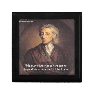 Conocimiento de John Locke/cita de la experiencia Caja De Recuerdo