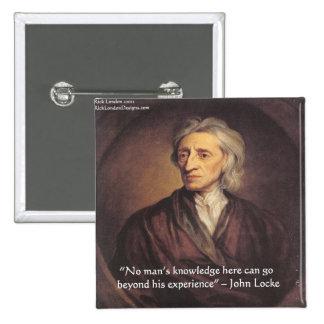 Conocimiento de John Locke/cita de la experiencia Pins