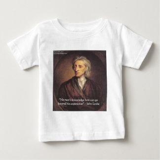 Conocimiento de John Locke/cita de la experiencia T-shirt