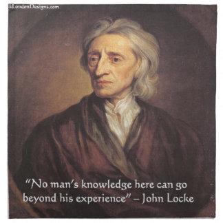 Conocimiento de John Locke/cita de la experiencia Servilletas De Papel