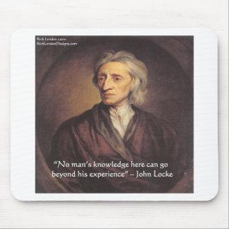 Conocimiento de John Locke/cita de la experiencia Tapetes De Ratón