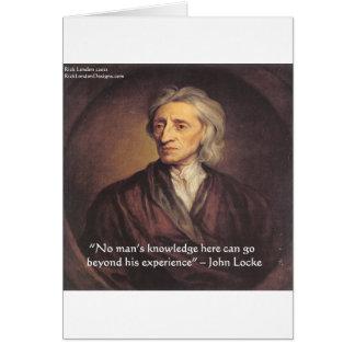 Conocimiento de John Locke/cita de la experiencia Tarjeta De Felicitación