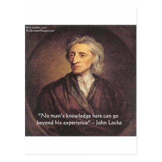 Conocimiento de John Locke/cita de la experiencia Tarjetas Postales