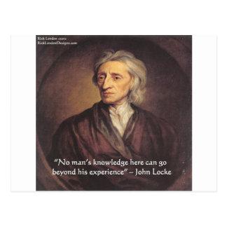 Conocimiento de John Locke/cita de la experiencia Postales