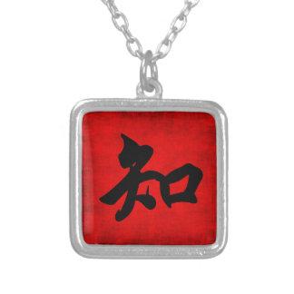 Conocimiento en caligrafía china joyería