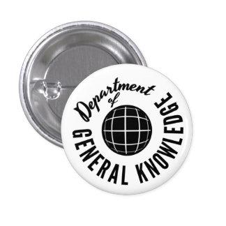 Conocimiento general Dept. Pin-2 Pin Redondo De 1 Pulgada