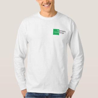 Conocimiento global - manga larga T Camisas