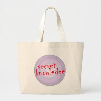 conocimiento secreto bolsa tela grande