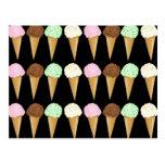 Conos coloridos tarjetas postales