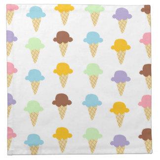 Conos de helado coloridos servilleta de papel