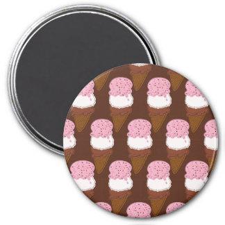 Conos de helado cosidos napolitanos 2-MAGNET Imán Redondo 7 Cm