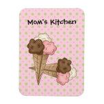 Conos de helado de la cocina de las mamáes (añada  imanes flexibles