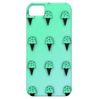 Conos de helado de la menta (microprocesadores de  iPhone 5 Case-Mate carcasa