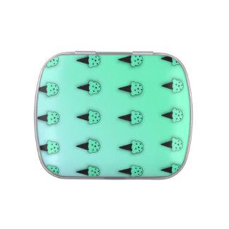 Conos de helado de la menta (microprocesadores de jarrones de caramelos