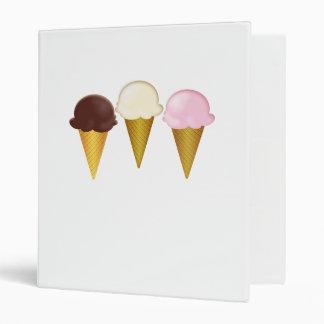 Conos de helado del chocolate de la vainilla y de