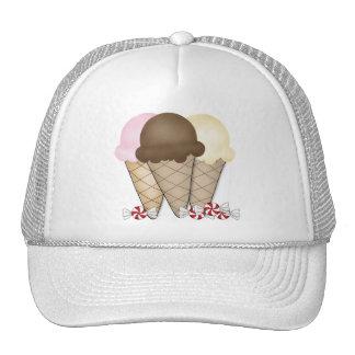 Conos de helado gorro de camionero