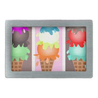 conos de helado hebillas de cinturon rectangulares