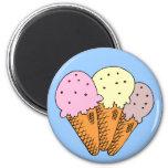 Conos de helado imán de frigorifico