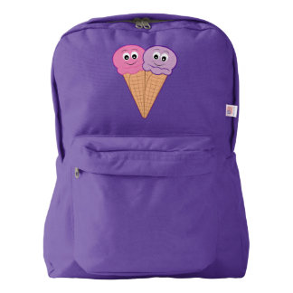 Conos de helado para dos mochila