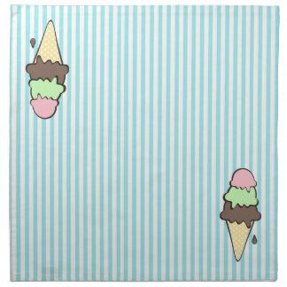 Conos de helado servilleta de papel