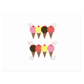 Conos de helado tarjeta postal
