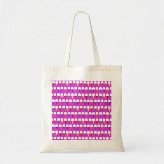 Conos del arco iris en rosa purpurino bolsa tela barata