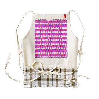 Conos del arco iris en rosa purpurino delantal zazzle HEART