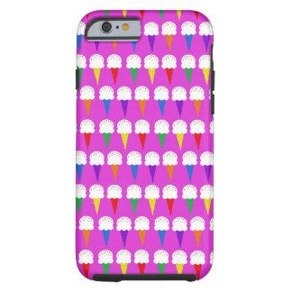 Conos del arco iris en rosa purpurino funda para iPhone 6 tough