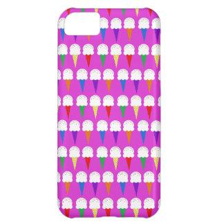 Conos del arco iris en rosa purpurino funda para iPhone 5C