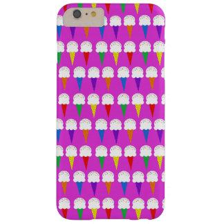 Conos del arco iris en rosa purpurino funda de iPhone 6 plus barely there