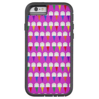 Conos del arco iris en rosa purpurino funda para  iPhone 6 tough xtreme