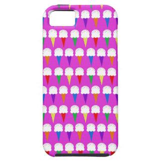 Conos del arco iris en rosa purpurino iPhone 5 carcasas