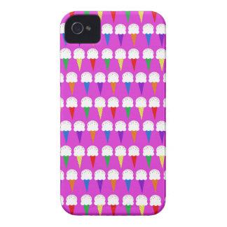 Conos del arco iris en rosa purpurino Case-Mate iPhone 4 cobertura