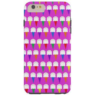 Conos del arco iris en rosa purpurino funda de iPhone 6 plus tough