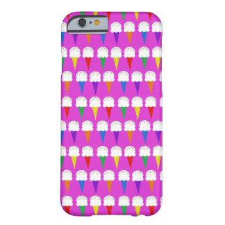 Conos del arco iris en rosa purpurino funda para iPhone 6 barely there