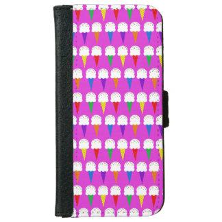 Conos del arco iris en rosa purpurino funda cartera para iPhone 6