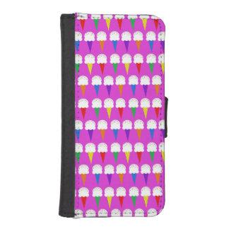 Conos del arco iris en rosa purpurino billetera para teléfono