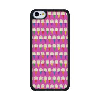 Conos del arco iris en rosa purpurino funda de iPhone 5C slim arce