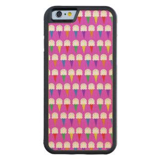 Conos del arco iris en rosa purpurino funda de iPhone 6 bumper arce