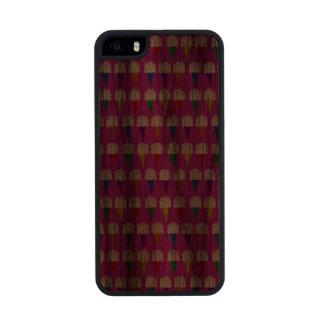 Conos del arco iris en rosa purpurino funda de nogal carved® para iPhone 5 slim
