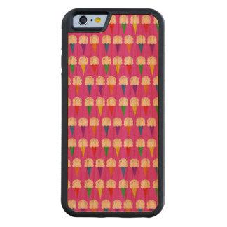 Conos del arco iris en rosa purpurino funda de iPhone 6 bumper cerezo