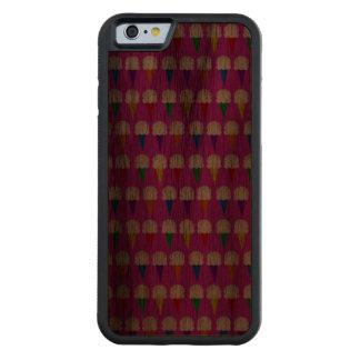 Conos del arco iris en rosa purpurino funda de iPhone 6 bumper nogal