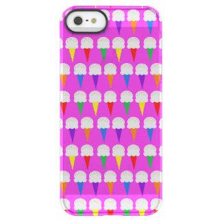 Conos del arco iris en rosa purpurino funda permafrost™ deflector para iPhone 5 de uncom