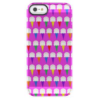 Conos del arco iris en rosa purpurino funda clearly™ deflector para iPhone 5 de uncommon