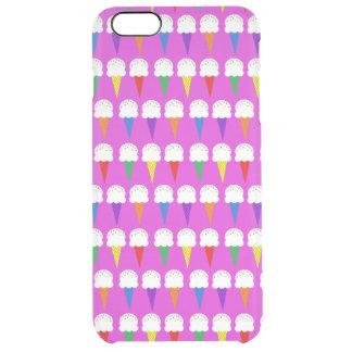 Conos del arco iris en rosa purpurino funda clearly™ deflector para iPhone 6 plus de unc