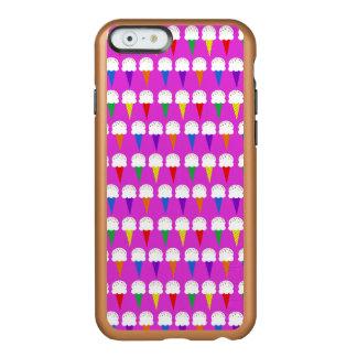 Conos del arco iris en rosa purpurino funda para iPhone 6 plus incipio feather shine
