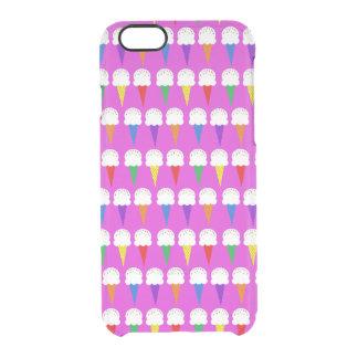 Conos del arco iris en rosa purpurino funda clearly™ deflector para iPhone 6 de uncommon