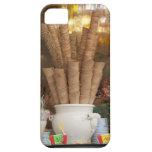 Conos del gelato del helado en la exhibición de la funda para iPhone SE/5/5s